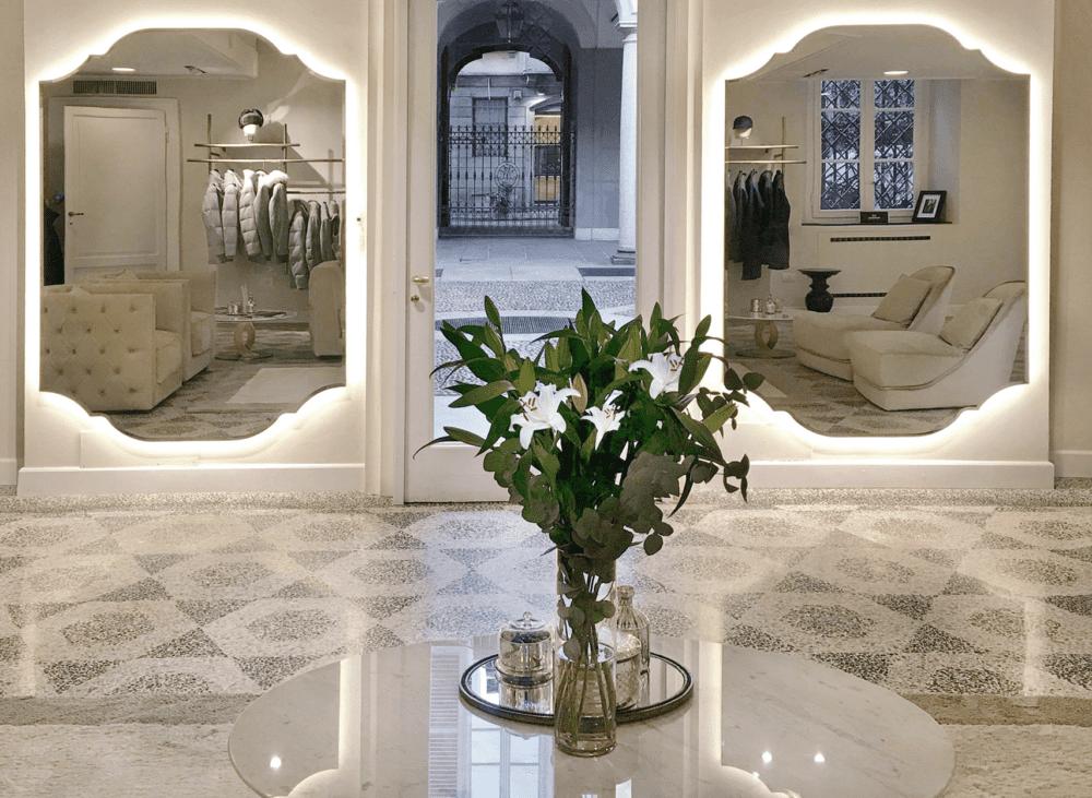 Lo showroom Mandelli a Milano