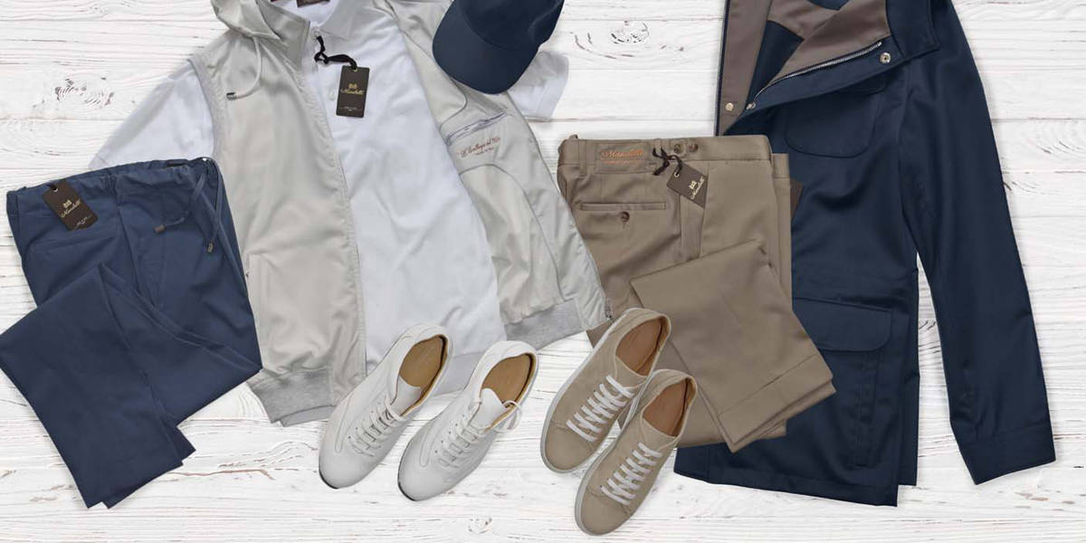 The Mandelli total look: the perfect outfit for every trip
